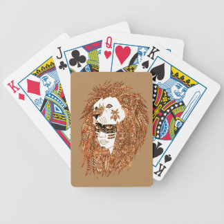 Lion Mask Bicycle Playing Cards