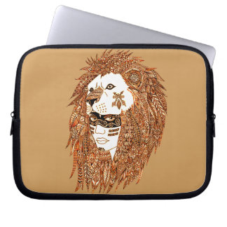 Lion Mask Laptop Sleeves