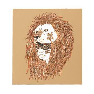Lion Mask Notepad