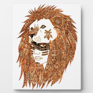 Lion Mask Plaque