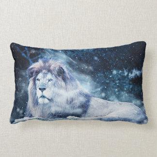 Lion - Mix Media 2 Lumbar Cushion