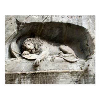 Lion Monument, Lucerne Postcard