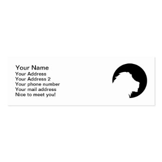 Lion moon business card template