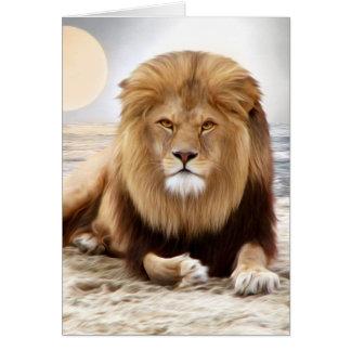 Lion Ocean Photo Paint Card