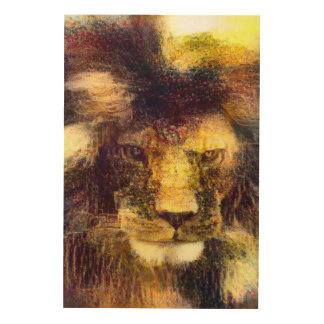 Lion of God Impressionist Oil Painting Wood Canvases