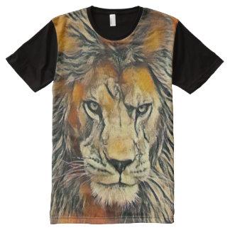 Lion of God Oil Pastel Art Graphic Tee
