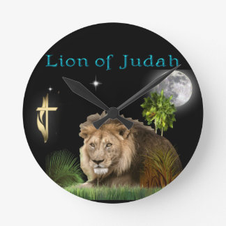 Lion of Judah Christian gifts and clothing Round Clock