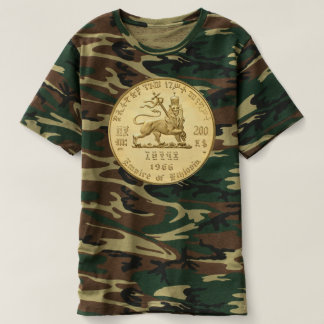 Lion OF Judah - Jah Army gold - Rasta Reggae shirt