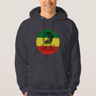 Lion OF Judah - Lion Rasta Reggae Hooded - Hoodie