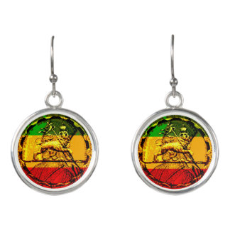 Lion of Judah Rasta Drop Earrings