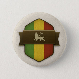 Lion of Judah Rasta Shield 6 Cm Round Badge