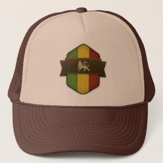 Lion of Judah Rasta Shield Trucker Hat