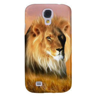 Lion of South Africa fractal art Samsung Galaxy S4 Covers
