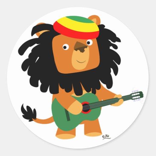 Lion of Zion sticker Round Stickers