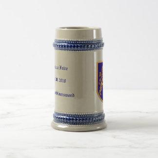 Lion on Blue Shield Beer Stein