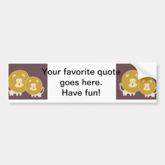 Lion on plain brown background. bumper sticker