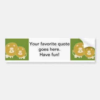 Lion on Plain Green Bumper Sticker