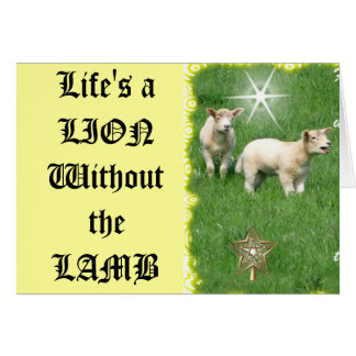 Lion or Lamb Card