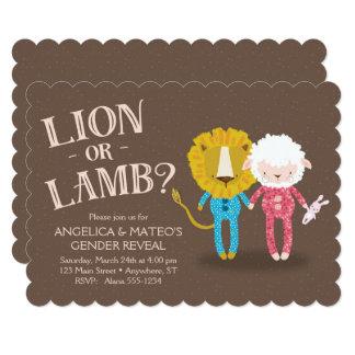 Lion or Lamb Gender Reveal Invitation