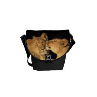 Lion Pair mini Messanger Bag (or small purse) Commuter Bag