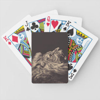lion pencil art lion roar black and white bicycle playing cards