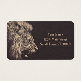 lion pencil art lion roar black and white business card