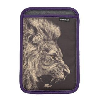 lion pencil art lion roar black and white iPad mini sleeve