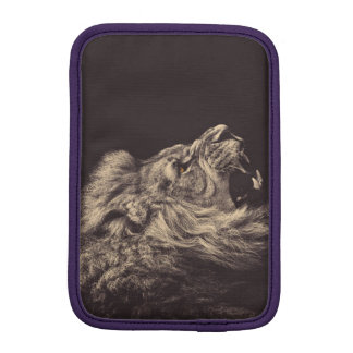 lion pencil art lion roar black and white iPad mini sleeves