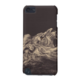 lion pencil art lion roar black and white iPod touch (5th generation) covers