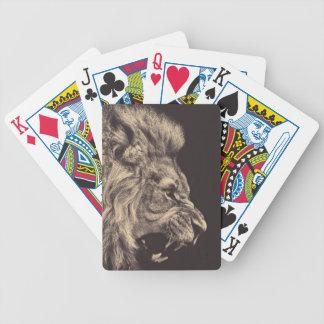 lion pencil art lion roar black and white poker deck