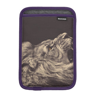 lion pencil art lion roar black and white sleeve for iPad mini