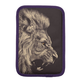 lion pencil art lion roar black and white sleeve for iPad mini