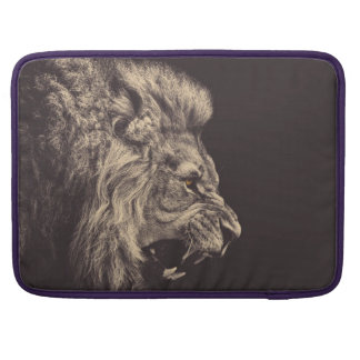 lion pencil art lion roar black and white sleeves for MacBooks