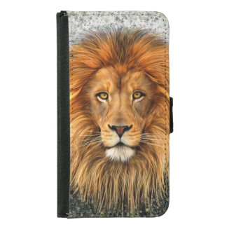 Lion Photograph Paint Art image Samsung Galaxy S5 Wallet Case
