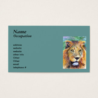 Lion Portrait aceo Business Cards