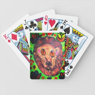 Lion portrait art poker deck
