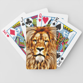 Lion Portrait Bicycle Playing Cards