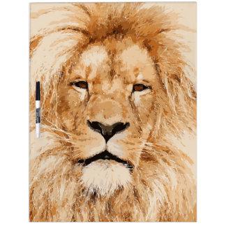 LION PORTRAIT DRY ERASE BOARD