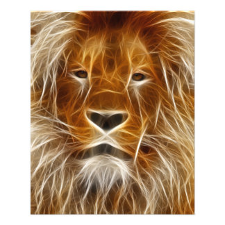 Lion Portrait Flyer Design