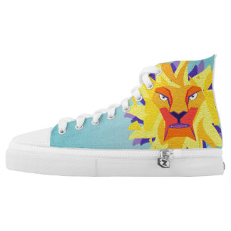 lion printed shoes