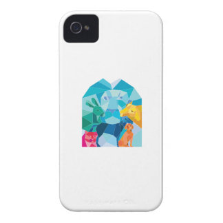 Lion Rabbit Cat Horse Dog Goat Low Polygon iPhone 4 Cover