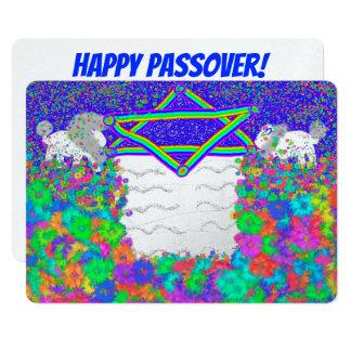 Lion Rainbow Passover Seder Pesach invitations