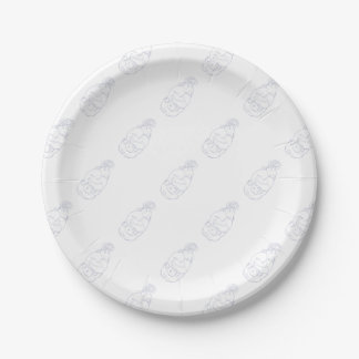 Lion Ram Globe Middle East Drawing Paper Plate
