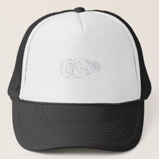 Lion Ram Globe Middle East Drawing Trucker Hat