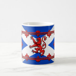Lion Rampant On Scottish Flag Coffee Mug