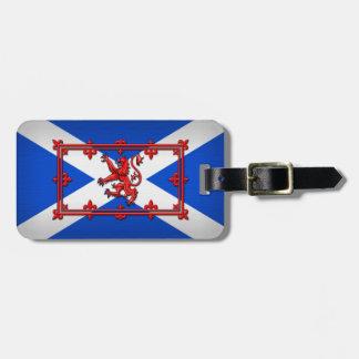 Lion Rampant On Scottish Flag Luggage Tag