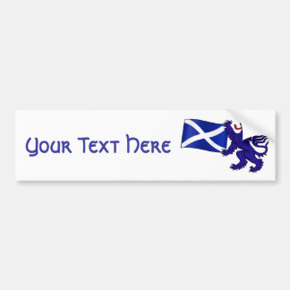Lion Rampant & Saltire Flag Scottish Design Bumper Sticker