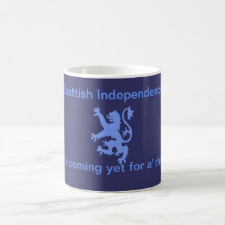 Lion Rampant Scottish Independence Burns Mug