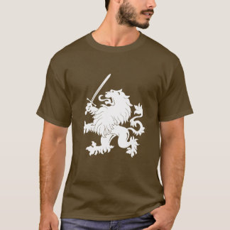 Lion Rampant with Sword Heraldry T-Shirt