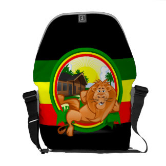 Lion rasta commuter bag